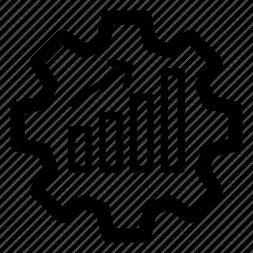 business efficiency management, dashboard setting, data management, performance management, productivity icon