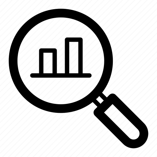 data analysis, data monitoring, finding data, traffic analysis, trend analysis icon