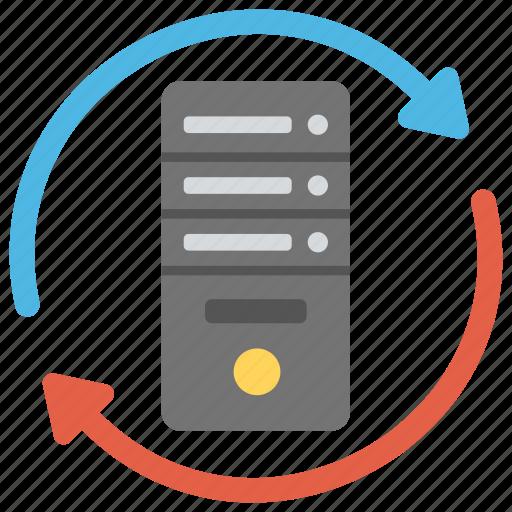 Data storage, database synchronization, server backup, server hosting, server sync icon - Download on Iconfinder