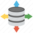 centralized database, data management, distributed database, sql database, sql server icon