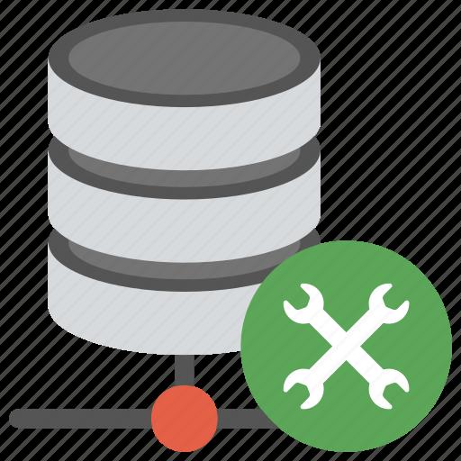database maintenance, database with tools, db maintenance, sql server maintenance icon