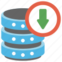 backup and restore, data backup, data recovery, data storage, database download icon