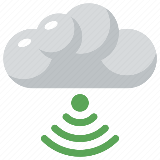 cloud computing concept, wifi cloud, wireless network signals, wireless technology icon
