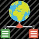 global server, global server network, server hosting, web hosting by global server, worldwide network icon