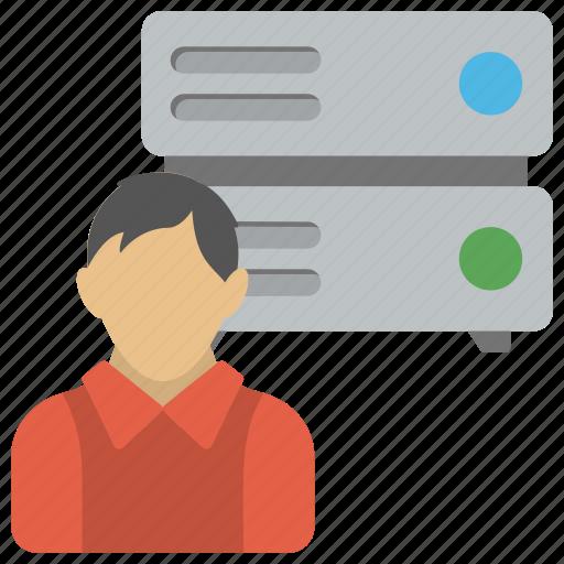Control of server, network administrator, network management, server admin, server administrator icon - Download on Iconfinder
