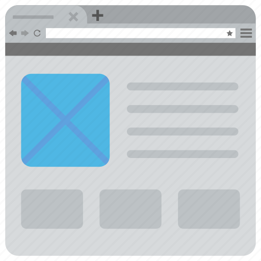 website design template, website element, website interface, website mockup, website wireframe icon