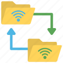 wireless data, wireless database, wireless database access, wireless information access, wireless information network icon