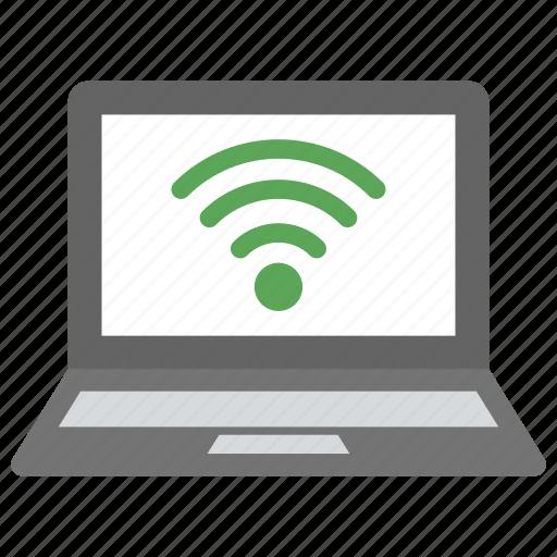 laptop connecting to wifi, laptop wifi hotspot, wifi network, wireless network icon