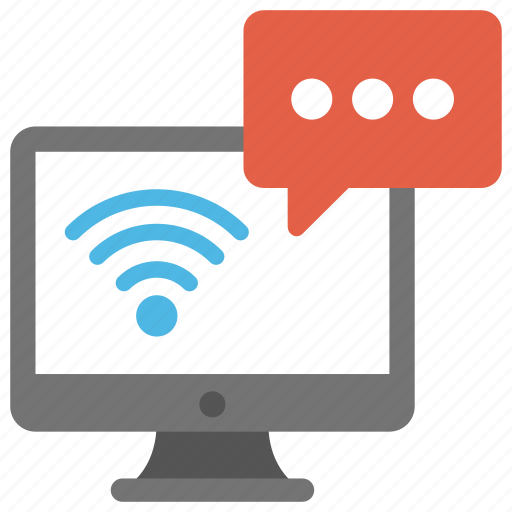 network communication application, web conferencing, web messaging, web telephony, wireless communication server icon