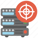 data management, server administration, server hosting, server performance, target server icon