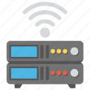 web hosting, wifi web server, wireless database, wireless internet server, wireless web server icon