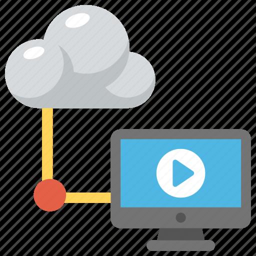 cloud computing media, cloud computing multimedia, cloud music, online media, shared music icon