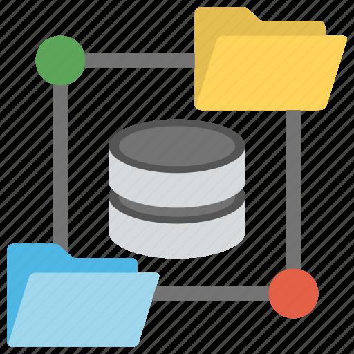 data distribution system, database network, datacenter, server storage, sql storage icon