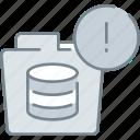 data, database, document, error, folder, storage icon