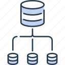 connection, data, database, network, networking, storage icon