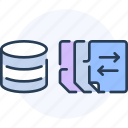 data, database, document, file, report, transfer icon