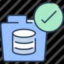 check, data, database, document, folder, storage icon