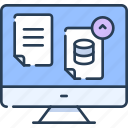 cloud, data, document, file, loading, storage, upload icon