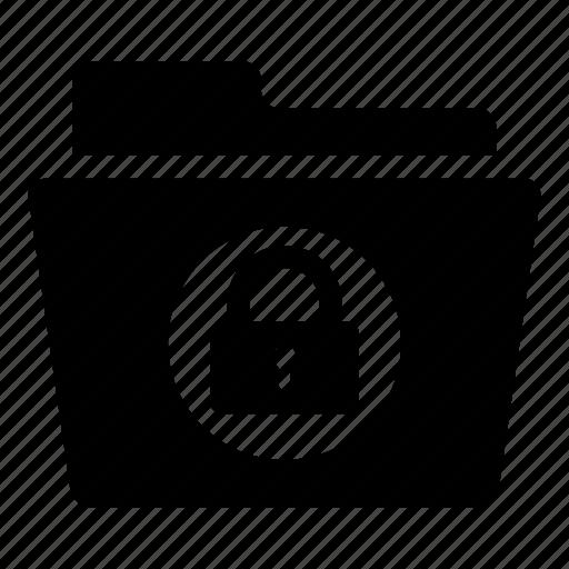 data, database, folder, locked, secure, storage icon