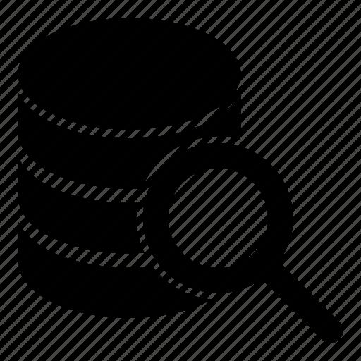 data, database, find, search, sql, storage icon
