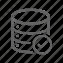 check, check mark, correct, database icon