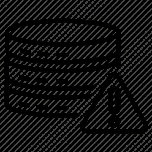 database, error, forbidden, warning icon