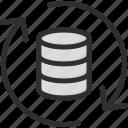 archive, arrow, data, database, refresh, storage, update icon