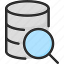 archive, data, database, find, magnifier, search, storage