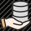 archive, data, database, hand, hold, storage