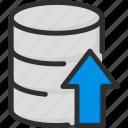 archive, arrow, data, database, storage, up, upload icon