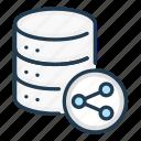 data, database, server, share, storage