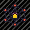computing, database, home, network, servers icon