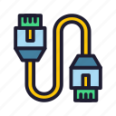 cable, database, lan, servers icon