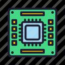 database, processor, servers icon