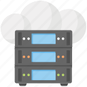 cloud computing server, cloud network, cloud services, server hosting, web hosting icon