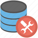 database maintenance, database with tools, db maintenance, sql server maintenance icon