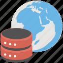 global server, internet server, online database, sql server, web server icon