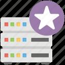 favorite website, popular database, server ranking, server rating, server with star icon