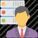 it administrator, network administrator, network engineer, server administrator, server management icon