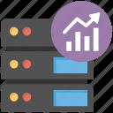 database analysis, database management system, database statistics, running database analysis, server efficiency icon