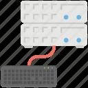 computer server, database management, database storage, programming concept, website hosting icon
