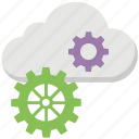 cloud computing, cloud computing development, cloud gears, cloud services, cloud technology icon