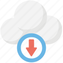 cloud computing concept, cloud data, cloud data download, cloud download, wireless technology icon