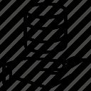 database, hand, safe, secure, server icon