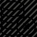 cancel, database, delete, remove, server icon