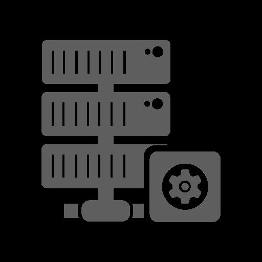 database, gear, hosting, network, server, setting icon