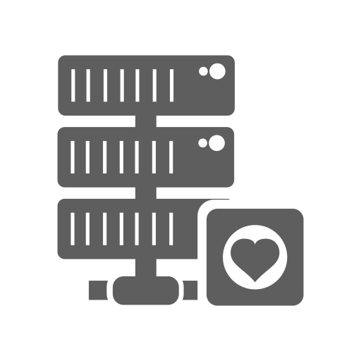 database, favorite, hosting, network, server icon