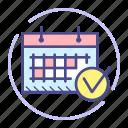 calendar, check, date, event, month, schedule
