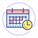 calendar, clock, event, month, schedule, time, watch