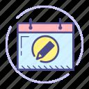 calendar, edit, event, month, pencil, schedule